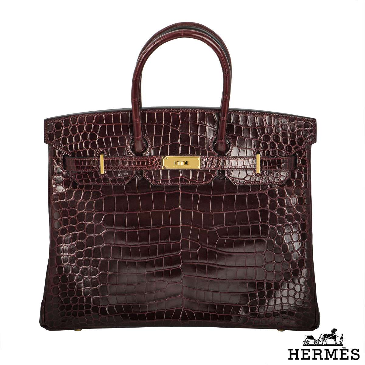 Hermès Porosus Crocodile GHW 35cm Birkin Bag